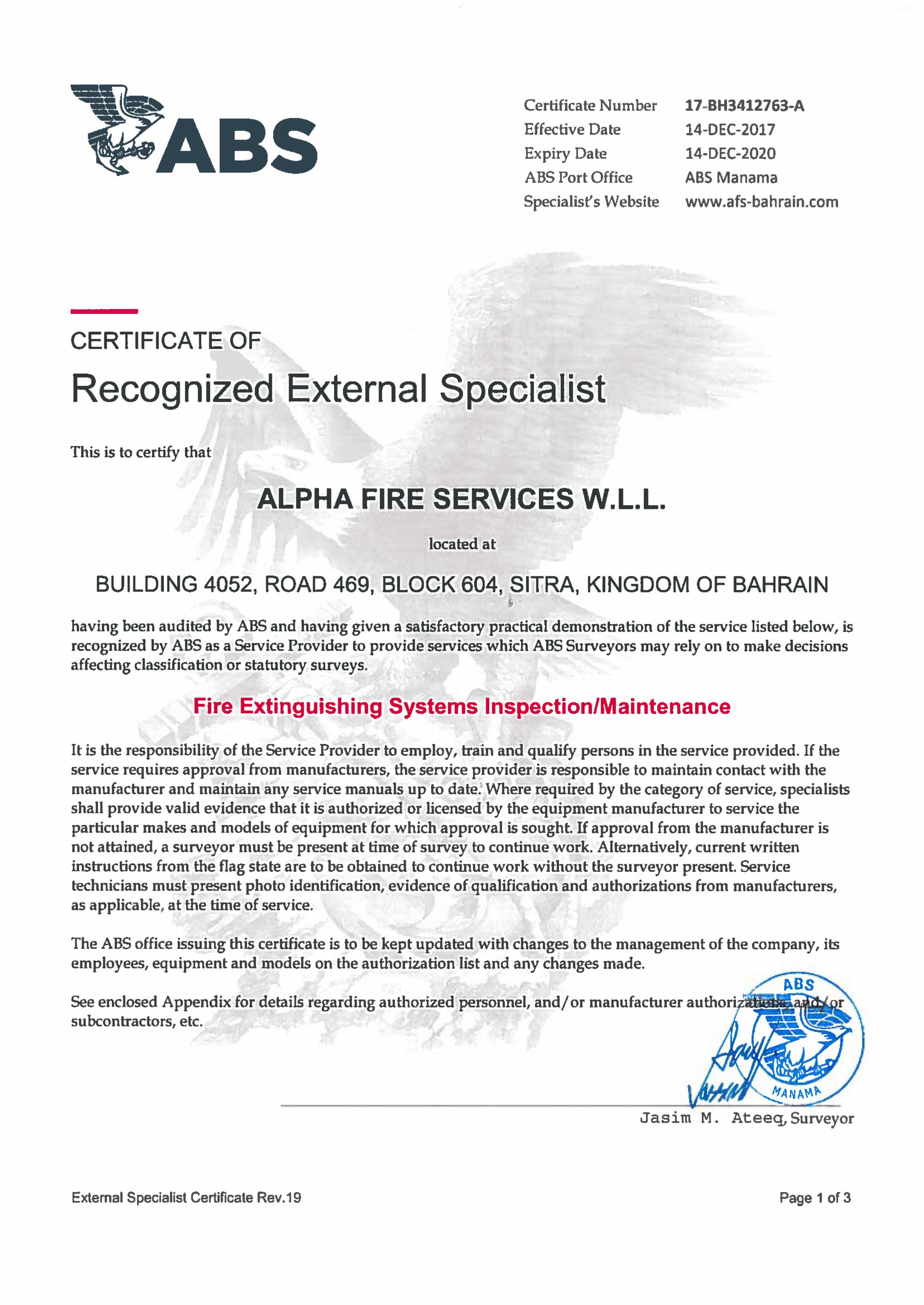 Alpha Fire Services